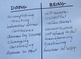 doing vs being